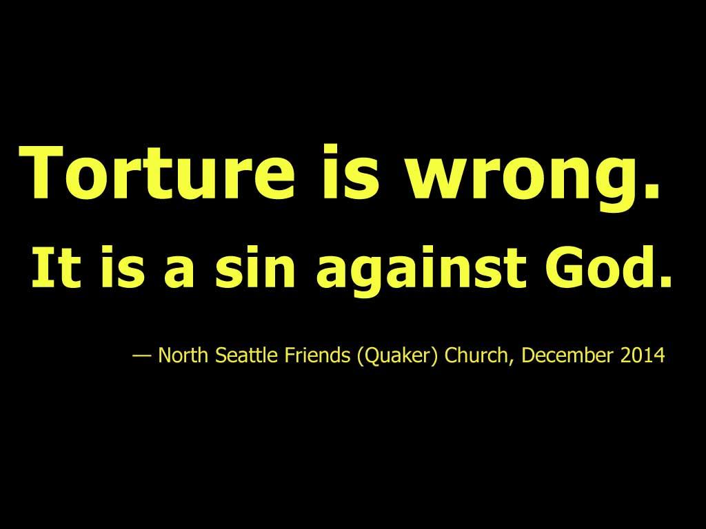 NSFC Statement on Torture