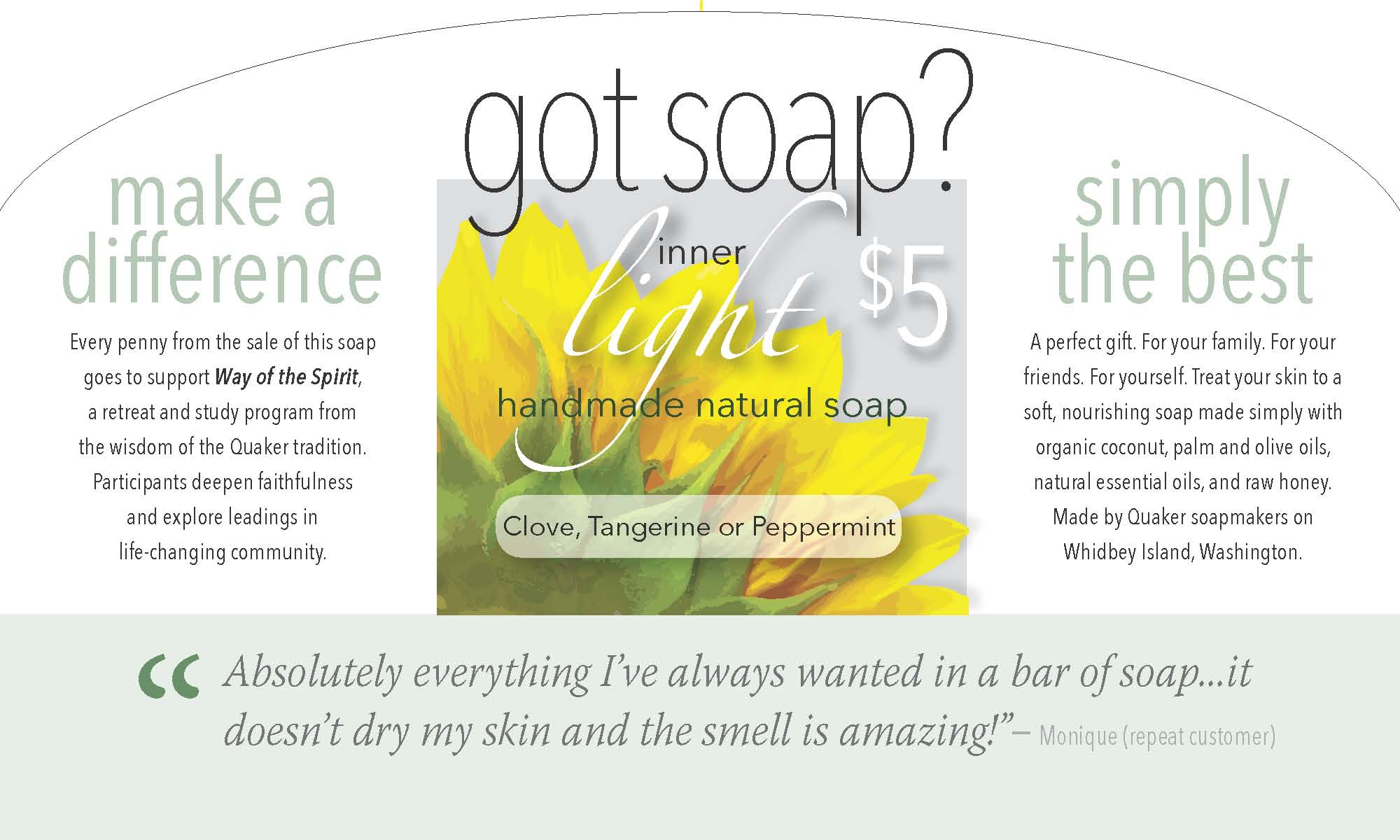 Handmade Natural Soap benefits Way of the Spirit