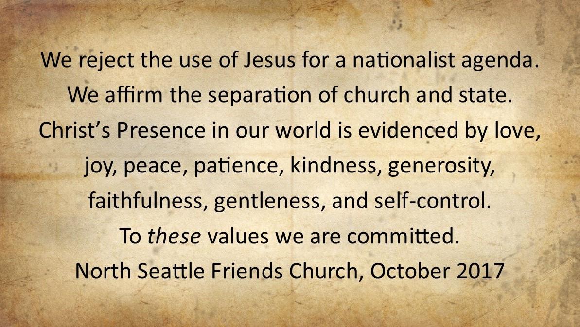 Statement on Values